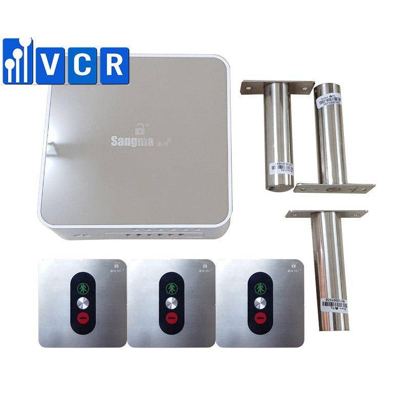 Cleanroom 3-door interlock system